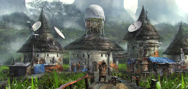 Dybowski_cyberpunk_Village